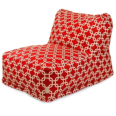 Majestic Home Goods Indoor Cotton Duck Bean Bag Chair, Red (85907210304)
