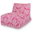 Majestic Home Goods Indoor French Quarter Cotton Duck/Twill Bean Bag Chair Lounger, Hot Pink