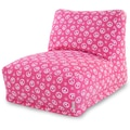Majestic Home Goods Indoor Peace Cotton Duck/Twill Bean Bag Chair Lounger, Hot Pink