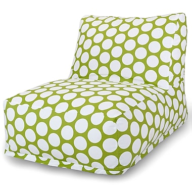 Majestic Home Goods Indoor Cotton Duck Bean Bag Chair, Hot Green (85907210326)