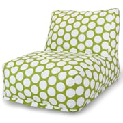 Majestic Home Goods Indoor Large Polka Dot Cotton Duck Bean Bag Chair Lounger, Hot Green