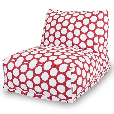 Majestic Home Goods Indoor Cotton Duck Bean Bag Chair, Red Hot (85907210327)