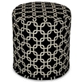 Majestic Home Goods Indoor Poly/Cotton Twill Links Small Poufs