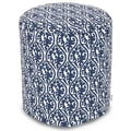 Majestic Home Goods Indoor Poly/Cotton Twill Helix Small Pouf, Navy Blue
