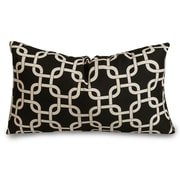 Majestic Home Goods Indoor/Outdoor Links Small Indoor/Outdoor Pillow, Black