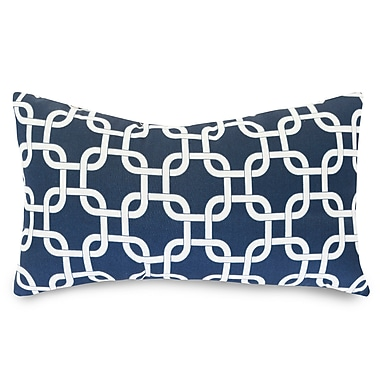 Majestic Home Goods Indoor Links Small Pillow, Navy Blue