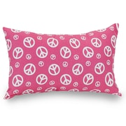 Majestic Home Goods Indoor Peace Small Pillow, Hot Pink