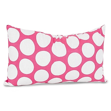 Majestic Home Goods Indoor Large Polka Dot Small Pillow, Hot Pink