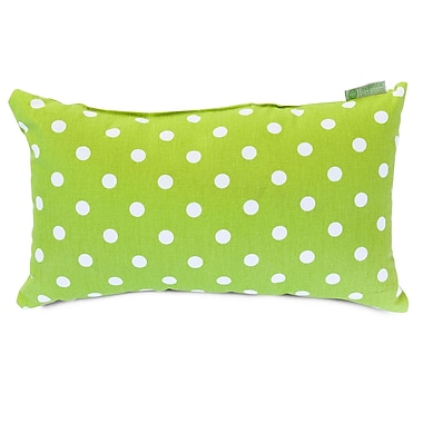 Majestic Home Goods Indoor Small Polka Dot Small Pillow, Lime