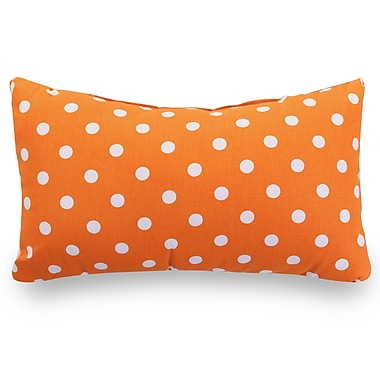 Majestic Home Goods Indoor Small Polka Dot Small Pillow, Tangerine