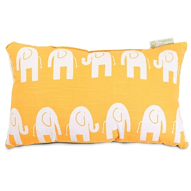 Majestic Home Goods Indoor Ellie Small Pillow, Yellow