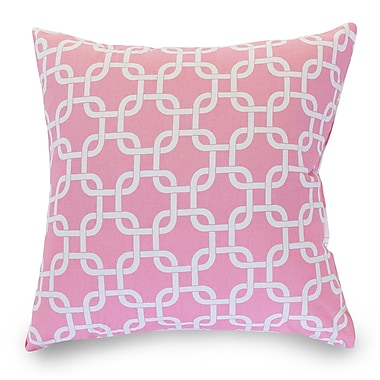 Majestic Home Goods Indoor Links Large Pillow, Soft Pink