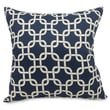 Majestic Home Goods Indoor Links Extra Large Pillow, Navy Blue