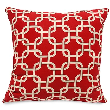 Majestic Home Goods Indoor Links Large Pillow, Red