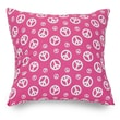 Majestic Home Goods Indoor Peace Extra Large Pillow, Hot Pink