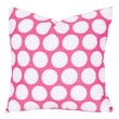 Majestic Home Goods Indoor Large Polka Dot Extra Large Pillow, Hot Pink