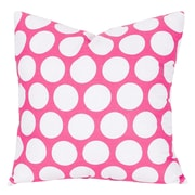 Majestic Home Goods Indoor Large Polka Dot Large Pillow, Hot Pink
