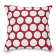 Majestic Home Goods Indoor Large Polka Dot Large Pillow, Red Hot
