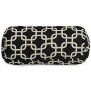 Majestic Home Goods Indoor Links Round Bolster Pillow, Black