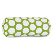 Majestic Home Goods Indoor Large Polka Dot Round Bolster Pillow, Hot Green