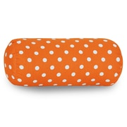 Majestic Home Goods Indoor Small Polka Dot Round Bolster, Tangerine