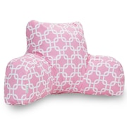 Majestic Home Goods Indoor Links Reading Pillow, Soft Pink