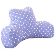 Majestic Home Goods Indoor Polka Dots Reading Pillow, Lavender