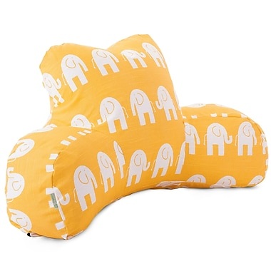 Majestic Home Goods Indoor Ellie Reading Pillow, Yellow