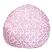 Majestic Home Goods Indoor Links Cotton Duck/Twill Small Classic Bean Bag Chair, Soft Pink