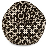 Majestic Home Goods Indoor/Outdoor Links Polyester Small Classic Bean Bag Chair, Black