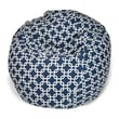Majestic Home Goods Indoor Links Cotton Duck/Twill Small Classic Bean Bag Chair, Navy Blue