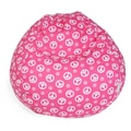 Majestic Home Goods Indoor Peace Cotton Duck/Twill Small Classic Bean Bag Chair, Hot Pink