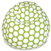 Majestic Home Goods Indoor Large Polka Dot Cotton Duck/Twill Small Classic Bean Bag Chair, Hot Green