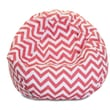 Majestic Home Goods Indoor Chevron Cotton Duck/Twill Small Classic Bean Bag Chair, Coral