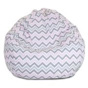 Majestic Home Goods Indoor Zoom Zoom Cotton Duck/Twill Small Classic Bean Bag Chair, Pink
