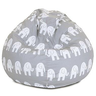 Majestic Home Goods Indoor Cotton Duck Bean Bag Chair, Gray (85907214041)