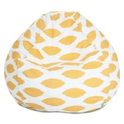 Majestic Home Goods Indoor Alli Cotton Duck/Twill Small Classic Bean Bag Chair, Yellow