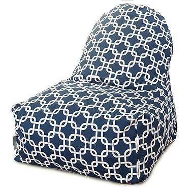 Majestic Home Goods Indoor Links Cotton Duck/Twill Kick-It Bean Bag Chair, Navy Blue