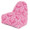 Majestic Home Goods Indoor French Quarter Cotton Duck Kick-It Bean Bag Chair, Hot Pink