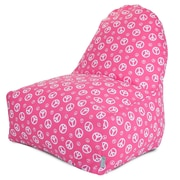 Majestic Home Goods Indoor Peace Cotton Duck/Twill Kick-It Bean Bag Chair, Hot Pink