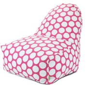 Majestic Home Goods Indoor Large Polka Dot Cotton Duck/Twill Kick-It Bean Bag Chair, Hot Pink