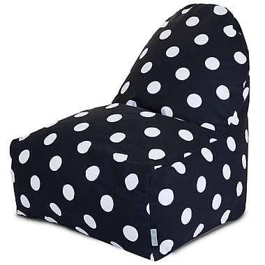 Majestic Home Goods Indoor Large Polka Dot Cotton Duck/Twill Kick-It Bean Bag Chairs