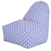 Majestic Home Goods Indoor Large Polka Dot Cotton Duck/Twill Kick-It Bean Bag Chair, Lavender