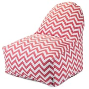 Majestic Home Goods Indoor Chevron Cotton Duck/Twill Kick-It Bean Bag Chair, Coral