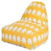 Majestic Home Goods Indoor Ellie Cotton Duck/Twill Kick-It Bean Bag Chair, Yellow