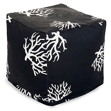 Majestic Home Goods Outdoor Polyester Coral Small Cube Ottomans