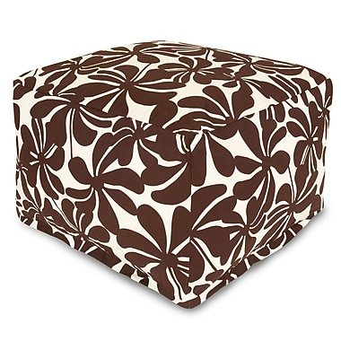 Majestic Home Goods Outdoor Polyester Plantation Large Ottomans