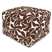 Majestic Home Goods Outdoor Polyester Plantation Large Ottoman, Chocolate