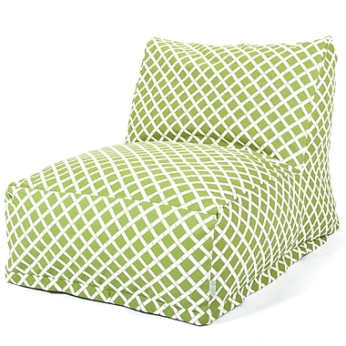 Majestic Home Goods Outdoor Polyester Bamboo Bean Bag Chair Lounger, Sage