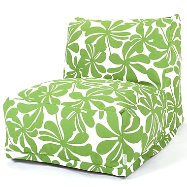Majestic Home Goods Outdoor Polyester Plantation Bean Bag Chair Lounger, Sage